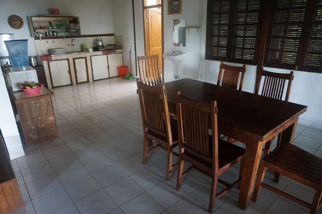 Kitchen/dining area at main villa, Vila Botani